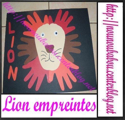 empreintes lion