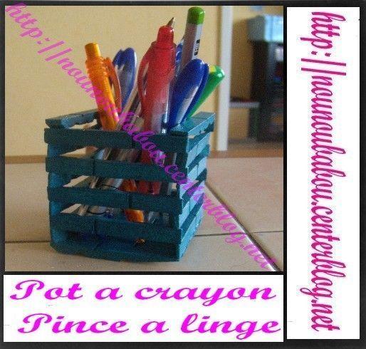 Pot A Crayons Pince A Linge