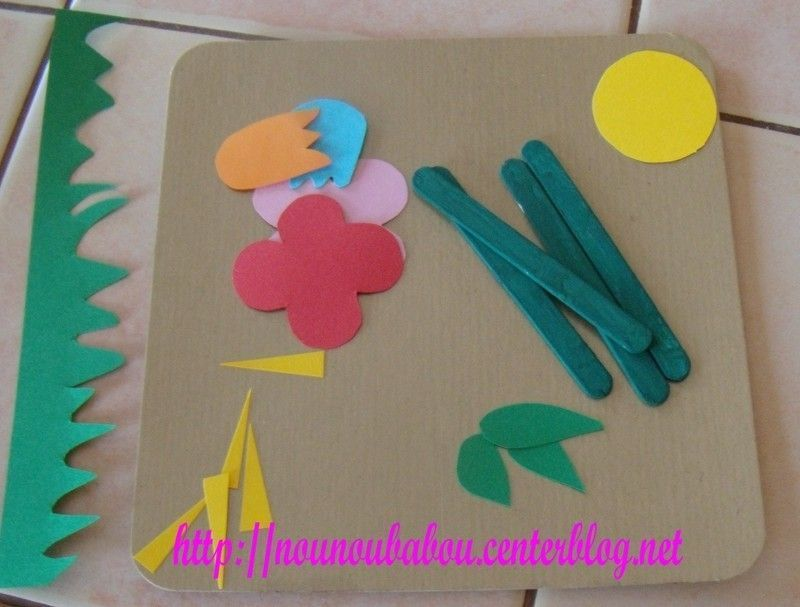 Tableau fleuri for Glace a coller